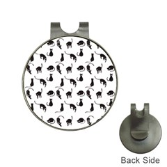 Black cats pattern Hat Clips with Golf Markers