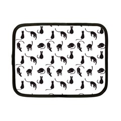 Black cats pattern Netbook Case (Small)