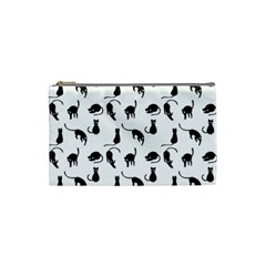 Black Cats Pattern Cosmetic Bag (small)