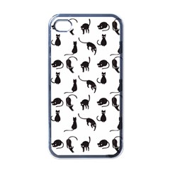 Black cats pattern Apple iPhone 4 Case (Black)