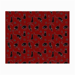 Black cats and witch symbols pattern Small Glasses Cloth (2-Side)
