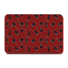 Black cats and witch symbols pattern Plate Mats