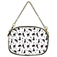 Black cats and witch symbols pattern Chain Purses (One Side)