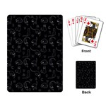 Black cats and witch symbols pattern Playing Card Back