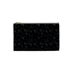 Black cats and witch symbols pattern Cosmetic Bag (Small)