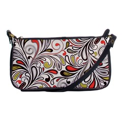 Colorful Abstract Floral Background Shoulder Clutch Bags