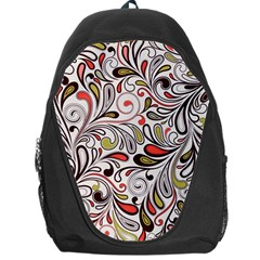Colorful abstract floral background Backpack Bag
