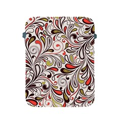 Colorful abstract floral background Apple iPad 2/3/4 Protective Soft Cases
