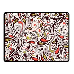 Colorful Abstract Floral Background Double Sided Fleece Blanket (small)