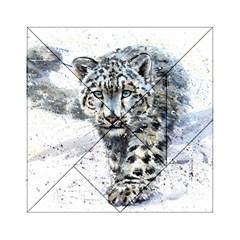Snow Leopard Acrylic Tangram Puzzle (6  X 6 )