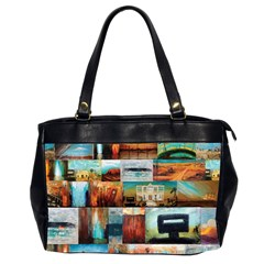 Australiana Maximum Oversize Office Handbag (Two Sides)
