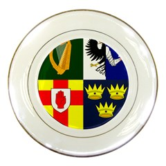 Arms of Four Provinces of Ireland  Porcelain Plates