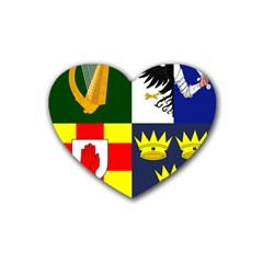 Arms of Four Provinces of Ireland  Heart Coaster (4 pack)