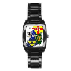Flag Map of Provinces of Ireland Stainless Steel Barrel Watch