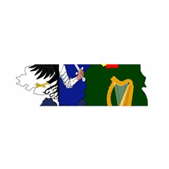 Flag Map Of Provinces Of Ireland Satin Scarf (oblong)