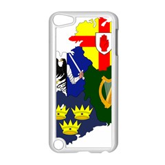 Flag Map of Provinces of Ireland  Apple iPod Touch 5 Case (White)