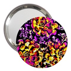 Purple Yellow Flower Plant 3  Handbag Mirrors