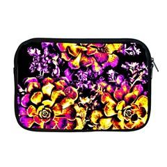 Purple Yellow Flower Plant Apple Macbook Pro 17  Zipper Case