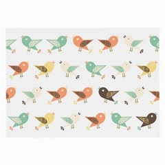 Assorted Birds Pattern Large Glasses Cloth