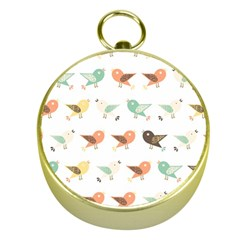 Assorted Birds Pattern Gold Compasses
