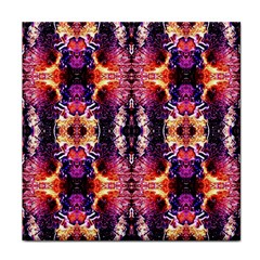 Mystic Red Blue Ornament Pattern Tile Coasters