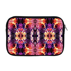 Mystic Red Blue Ornament Pattern Apple Macbook Pro 17  Zipper Case