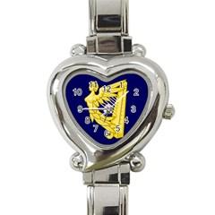 Royal Standard of Ireland (1542-1801) Heart Italian Charm Watch