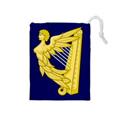 Royal Standard of Ireland (1542-1801) Drawstring Pouches (Medium)