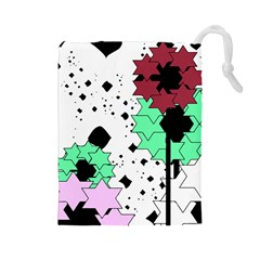 Star flowers             Drawstring Pouch