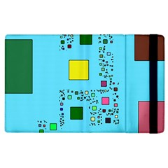 Squares on a blue background      Kindle Fire (1st Gen) Flip Case