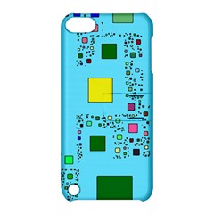 Squares on a blue background      Apple iPhone 5 Hardshell Case with Stand