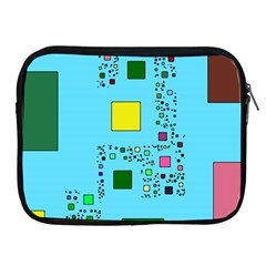 Squares on a blue background      Apple iPad 2/3/4 Protective Soft Case