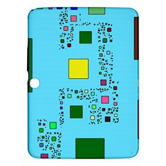 Squares On A Blue Background      Samsung Galaxy Tab 3 (8 ) T3100 Hardshell Case