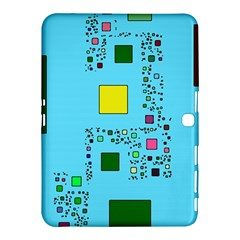 Squares on a blue background      Samsung Galaxy Tab 4 (8 ) Hardshell Case