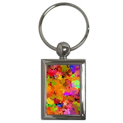 Colorful shapes             Key Chain (Rectangle)