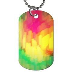 Pastel shapes painting            Dog Tag (One Side)