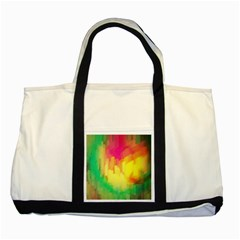 Pastel shapes painting            Two Tone Tote Bag