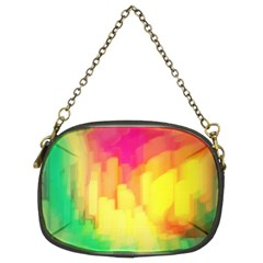 Pastel shapes painting       Chain Purse (Two Sides)
