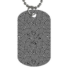 Modern Intricate Optical Dog Tag (Two Sides)