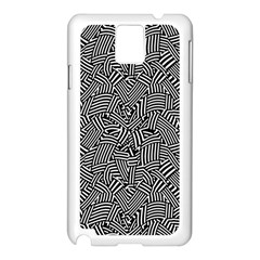 Modern Intricate Optical Samsung Galaxy Note 3 N9005 Case (White)
