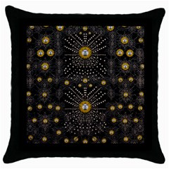 Lace Of Pearls In The Earth Galaxy Pop Art Throw Pillow Case (black)