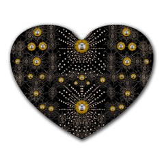 Lace Of Pearls In The Earth Galaxy Pop Art Heart Mousepads