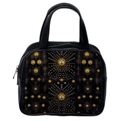 Lace Of Pearls In The Earth Galaxy Pop Art Classic Handbags (one Side)