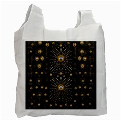 Lace Of Pearls In The Earth Galaxy Pop Art Recycle Bag (two Side)