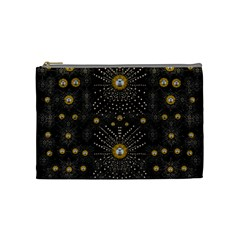 Lace Of Pearls In The Earth Galaxy Pop Art Cosmetic Bag (medium)