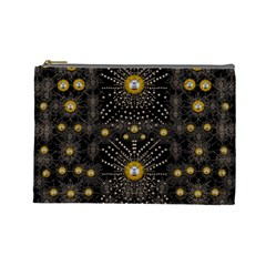 Lace Of Pearls In The Earth Galaxy Pop Art Cosmetic Bag (large)