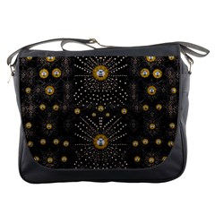 Lace Of Pearls In The Earth Galaxy Pop Art Messenger Bags