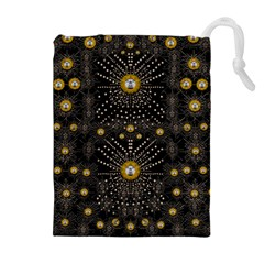 Lace Of Pearls In The Earth Galaxy Pop Art Drawstring Pouches (Extra Large)