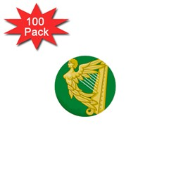 The Green Harp Flag of Ireland (1642-1916) 1  Mini Buttons (100 pack)