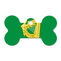 The Green Harp Flag Of Ireland (1642 1916) Dog Tag Bone (two Sides)